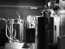 Nano brewery. This is a photo of the the new nano brewery in Mammoth Ca. Called Black Doubt Royalty Free Stock Photos