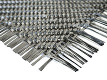 Nano carbon composite fiber in weave pattern Stock Photos