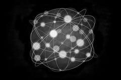 Nano deeltje met wolk royalty-vrije illustratie