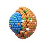 Nano deeltjesdwarsdoorsnede Royalty-vrije Stock Foto's