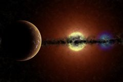 Nano gigante del sistema e bianco rosso Fotografia Stock