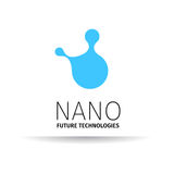 Nano logo - nanotechnology. Template design of logotype. Vector presentation. Stock Image
