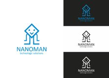 Nano Man. Is a designed especially for Technology or Electronic related company, Organization or Any other business related to that types of activities royalty free illustration