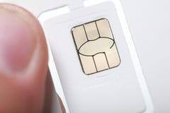 Nano-Mikro- des neuen SIM-Karten-Formats und Standard Stockbild