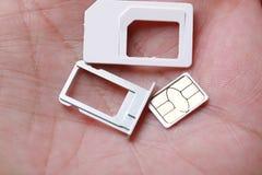 Nano-Mikro- des neuen SIM-Karten-Formats und Standard Lizenzfreie Stockbilder