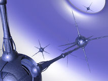 Nano reeks van Technologie #3 royalty-vrije illustratie