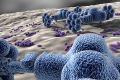 Nano robotar - teknologi på nano-fjäll Arkivbild