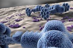 Nano robots - technologie bij de nano-schaal stock fotografie