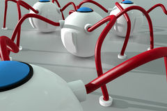 Nano robots - technologie bij de nano-schaal stock foto's