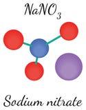 NaNO3 Sodium nitrate molecule Stock Photos