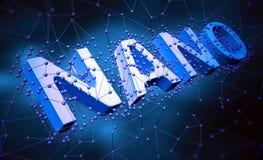 Nano technology concept. Background illustration royalty free illustration