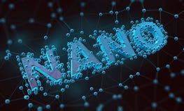 Nano technology concept. Background illustration vector illustration