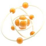 Nano technology emblem as atomic structure Stock Photos