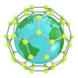 Nano wereld van de wetenschap Vector Illustratie