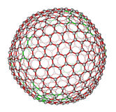 Nanocluster fullerene C540 molecular model Royalty Free Stock Photography