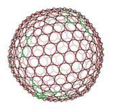 Nanocluster fullerene C540 molecular model Royalty Free Stock Photography