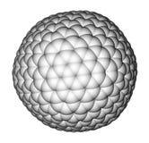 Nanocluster fullerene C540 molecular model Royalty Free Stock Photos