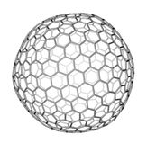 Nanocluster fullerene C540 molecular model Stock Photos