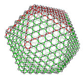 Nanocluster fullerene C720 molecular structure Royalty Free Stock Photography