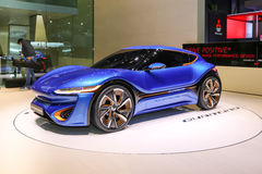 2015 nanoFlowcell Coupe Concept. Geneva, Switzerland - March 4, 2015: 2015 nanoFlowcell Coupe Concept presented on the 85th International Geneva Motor Show Stock Photo
