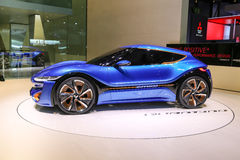 2015 nanoFlowcell Coupe Concept. Geneva, Switzerland - March 4, 2015: 2015 nanoFlowcell Coupe Concept presented on the 85th International Geneva Motor Show Stock Image