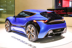 2015 nanoFlowcell Coupe Concept. Geneva, Switzerland - March 4, 2015: 2015 nanoFlowcell Coupe Concept presented on the 85th International Geneva Motor Show Stock Images