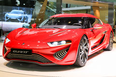 2015 nanoFlowcell Quant F. Geneva, Switzerland - March 4, 2015: 2015 nanoFlowcell Quant F presented on the 85th International Geneva Motor Show Stock Photo
