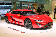 2015 nanoFlowcell Quant F. Geneva, Switzerland - March 4, 2015: 2015 nanoFlowcell Quant F presented on the 85th International Geneva Motor Show Royalty Free Stock Photo