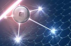 Nanorobot στη μοριακή δομή Στοκ εικόνα με δικαίωμα ελεύθερης χρήσης