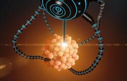 Nanorobot nawozi komórki jajko Medycznego pojęcia anatomiczna przyszłość Fotografia Stock