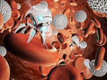 Nanorobot surgery Stock Images