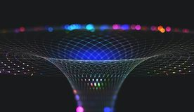 Nanostructure et technologies abstraits de l'avenir Entonnoir de l'information Réseau global photographie stock