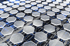 Nanostructures, carbon and silicon stock images
