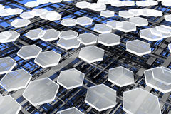 Nanostructures, carbonio e silicone Fotografie Stock Libere da Diritti