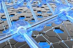 Nanostructures, koolstof en silicium royalty-vrije stock afbeelding