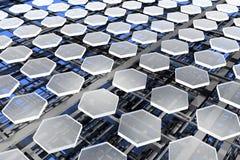 Nanostructures, koolstof en silicium stock afbeeldingen