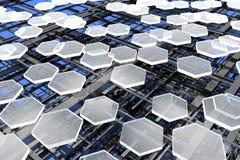 Nanostructures, koolstof en silicium royalty-vrije stock foto's