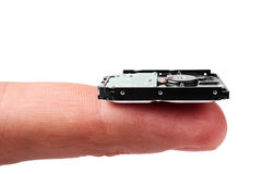 Nanotechnologies: tiny hard drive Royalty Free Stock Photos