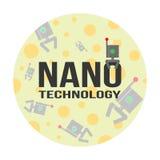 Nanotechnology background. Nanotechnology concept of logo and background. Illustration for science, medicine, physics, biophysics,  etc Stock Photography
