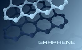Graphene atomic structure royalty free illustration