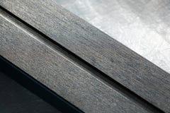Nanotechnology coating on cross-country ski base. Nanotechnology grip coating on a modern cross-country ski base royalty free stock photo