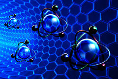 Nanotechnology and molecular structure concept Stock Image