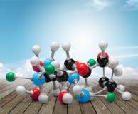 Nanotechnology. Molecule healthcare and medicine molecular structure innovation dna atom royalty free stock photos
