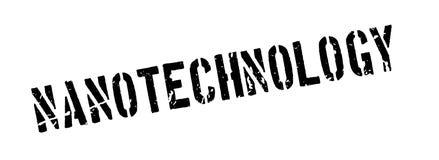 Nanotechnology rubber stamp. On white. Print, impress overprint Stock Image