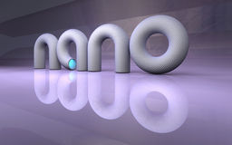 Nanotechnology sign. Nano technology sign high resolution 3d render Royalty Free Stock Images