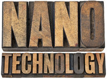 Nanotecnología en el tipo de madera foto de archivo libre de regalías