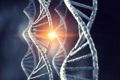 Nanotecnologías e investigación de la molécula de la DNA Imagen de archivo