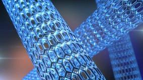 Nanotube转动 皇族释放例证
