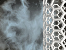 Nanotube d'argento su priorità bassa nuvolosa nera illustrazione vettoriale