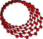 Nanotube d'isolement rouge de carbone sur le blanc Photographie stock